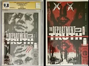 Department of Truth 1 4th Black and White cgc ss 9.8 James Tynion and 1 Secret V