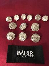BAGIR Silver Crested Replacement Buttons Suit Blazer Set EUC Lot 2081 Beautiful!
