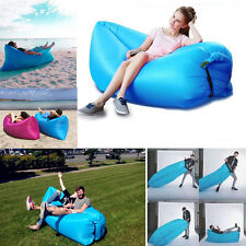 HOT Inflatable Sleeping Bag Lazy Air Sofa Bed Camping Hangout Lounge Beach Bag
