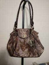 Kathy van zeeland shoulder bag Purse Snake Print Rare Read Description