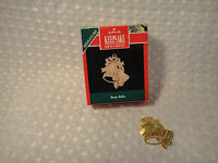 Vintage 1991 Hallmark Keepsake Miniature Brass Bells Christmas Ornament