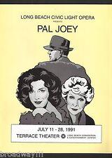 """Dixie Carter """"PAL JOEY"""" Elaine Stritch / Rodgers & Hart 1991 Long Beach Program"""
