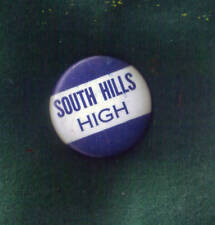 """South Hills"" Button-Pin 1 3/4"" Vintage"