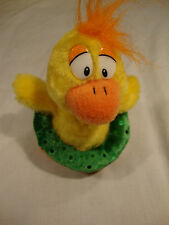 Fiesta Little Yellow Plush Duck Toy Duckie Floatie Green Tube Stuffed Animal 5""
