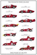 """Alfa Romeo Racing History """"Ten Rockets from Milano"""" 1st on Ebay Car Poster!!"""