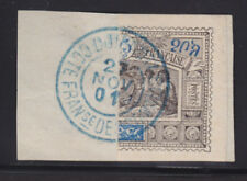 Obock Sc 53a used 1901 25c Warriors Bisect on Piece