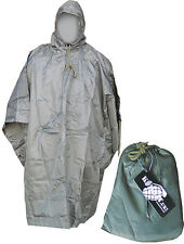 Armée Américaine Style Imperméable Ripstop Poncho Basha Military en Nylon Noir