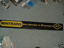 Ahm Minitrains ATI N Gauge Store Display sign - LARGE