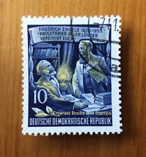EBS East Germany DDR 1955 Freidrich Engels 10Pf Michel 486 CTO