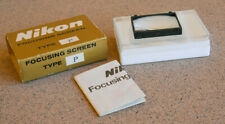 Nikon F Focusing Screen Type P w/case sleeve box general use- F2 F2SB F2AS
