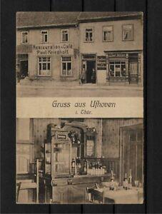 AK Gruss aus Ufhoven Bad Langensalza Restauration und Cafe Paul Krieghoff RARE