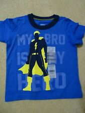 "Carter's ""My Bro is My Hero"" T shirt-Size 18 months-Smoke/Pet-free-Nwt"