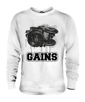 GYM GAINS UNISEX SWEATER  TOP GIFT GYM MOTIVATION