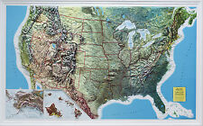 Hubbard AMEP United States Raised Relief Map Vinyl Unframed Rand McNally