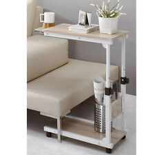 DIY Steel Food Wheel Table Side Table Laptop Desk Table Reading Desk Bed Tray