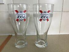 2 NEW Branded KRONENBOURG 1664  PINT Glasses CE M11 Lager Beer Glass