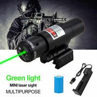Tactical 532nm Green Dot Laser Sight Scope For Rifle Pistol 11/20mm Weaver Rail