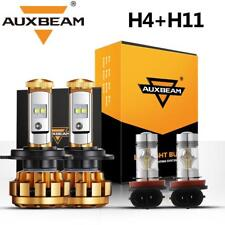 AUXBEAM H4+H11 LED Headlight High Low Beam Fog Lights for 12-2015 Toyota Tacoma