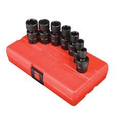 "Sunex Tools 3/8"" Drive 7 Piece SAE Universal Impact Socket Set 3654"