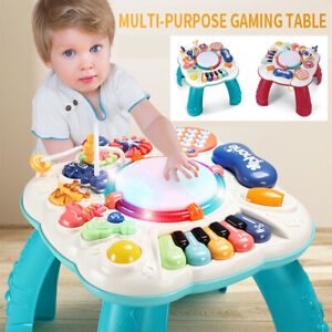 Baby Activity Table Toys 3 in 1 Early Education Musical Learning Table Kids Gift