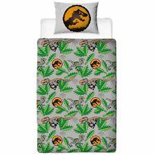 LEGO Jurassic World Dinosaur Single Duvet Cover 2 In1 Reversible Bedding