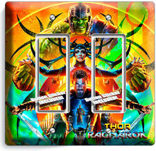 THOR RAGNAROK HULK SUPERHEROES DOUBLE GFI LIGHT SWITCH WALL PLATE ROOM ART DECOR