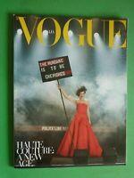 Vogue Unique Couture 745 Italia Septiembre 2012 September Milla Jovovich Mihalik