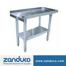 """Zanduco 30"""" X 18"""" Commercial Stainless Steel Equipment Stand with Undershelf Nsf"""