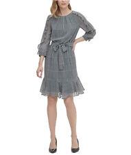 BNWOT CALVlN KLElN HOUNDSTOOTH FLORAL DRESS
