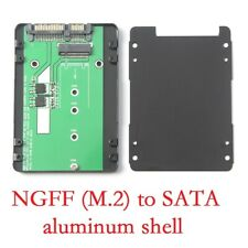 """2.5"""" SATA to M.2 (SATA) SSD adapter card with 7 mm thickness aluminum case"""
