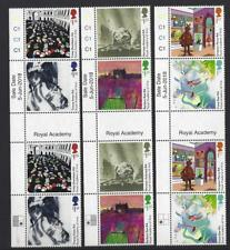 GREAT BRITAIN 2018 ROYAL ACADEMY OF ARTS MARGINAL GUTTERS UNMOUNTED MINT, MNH