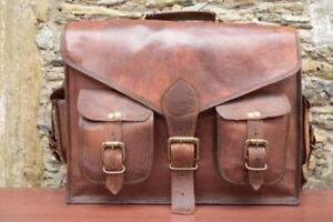 Women's Genuine Extra Large Leather Vintage Laptop Handmade Messenger Bag