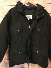 Rare Vintage Triple Fat Goose Down Jacket Winter Hood Coat Parka Mens Large Used