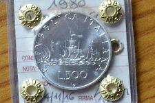 REPUBBLICA ITALIANA 500 LIRE CARAVELLE 1980 sigillata FDC SUBALPINA