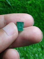 Natural terminated emerald crystal from swat Pakistan 2.64ct 8x6