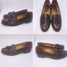 Vintage Sz 6 39 Roland Cartier Oxblood Leather Tassel Loafers Womens Preppy