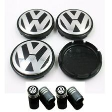"4PCS 65mm 2.56"" Emblem Wheel Center Cap Hub Cover + Valve cap for VW Volkswagen"