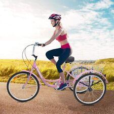 26inch Adult Tricycles 7 Speed 3-Wheel Bike Cruise Trike Elder/Teens Pink Bike