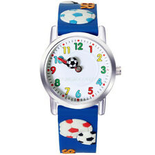 Fashion Childen Football Watches For Kids Boys Quartz Watch 3D Rubber Wristwatch