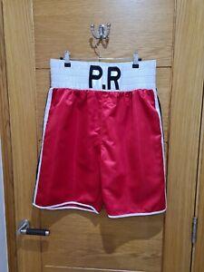 Suzi wong exclusive creation boxing fight Shorts size L initials PR
