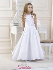 c020e4dc2cfd Abito Comunione Damigella Bambina 9 Anni 10 Anni Bianco Avorio alta qualità
