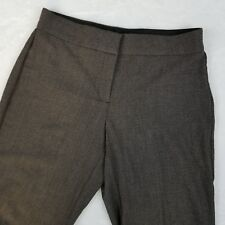 JM Collection Womens Pants 8PS Brown Taupe Elastic Waist Trousers Career