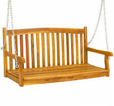 BCP Wooden Porch Swing w/ Hanging Chains