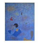 Willi Baumeister Scheinrelief Nocturno I Poster Kunstdruck Bild 70x90cm