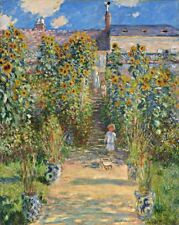 The Artist's Garden at Vetheuil Painting by Claude Monet Art Reproduction
