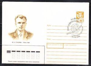Soviet Russia 1989 Space cover Yuri Gagarin ,55th birth anniversary