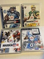 4 Game Lot Madden 08,09, 10,+ 13  football CIB PlayStation 3 PS3 Game Tested ps