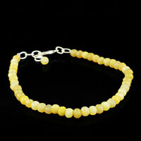 Round Shape 45.50 Cts Natural Agate Faceted Untreated Beads Bracelet - On Sale
