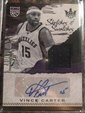 2017-18 Court Kings Vince Carter Autograph Jersey /169 Raptors Grizzlies Kings
