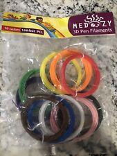MeDoozy 3D Pen Filament Refills - PCL Filament 1.75mm - 10 Colors 16.4 Ft Each